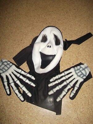 Halloween Skull Hands  Ghost Halloween Fancy Dress Karneval Fasching Scary movie