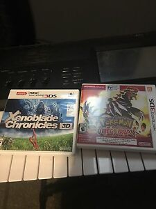 Xenoblade Chronicles and Pokemon Omega Ruby 3ds