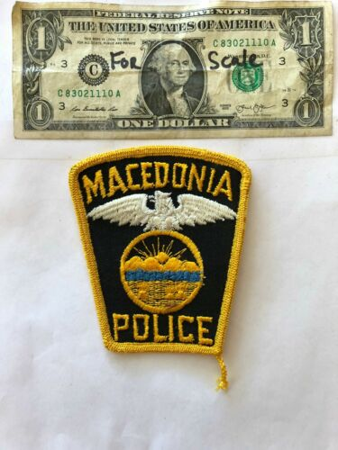 Macedonia Ohio Police Patch un-sewn in great shape