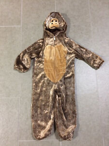 Monkey costume size 3-5