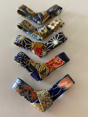 Ribbon Japanese Chopstick Rest  Set of 5  Handmade