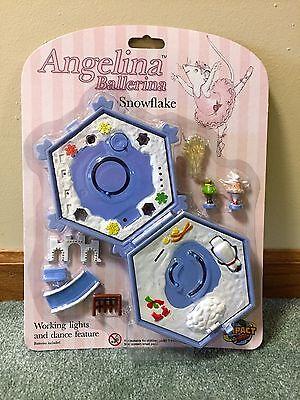 HTF Angelina Ballerina Snowflake Miniature Playset Compact Polly Pocket BlueBird