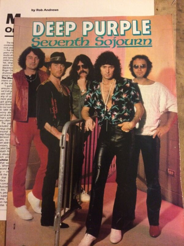 Deep Purple, Two Page Vintage Clipping