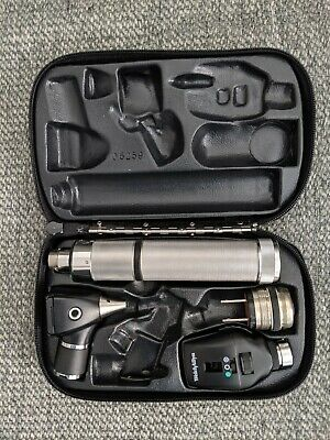 Wa 3.5v Elite Diagnostic Set With Otoscope Opthalmoscope Head 11720handlecase