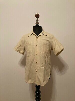 1940s Men's Shirts, Sweaters, Vests 1940s / 1950s Men's Short Sleeved Sports Shirt $84.27 AT vintagedancer.com