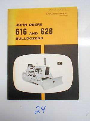 John Deere 616 626 Bulldozer Operators Owners Manual Om-u15172u