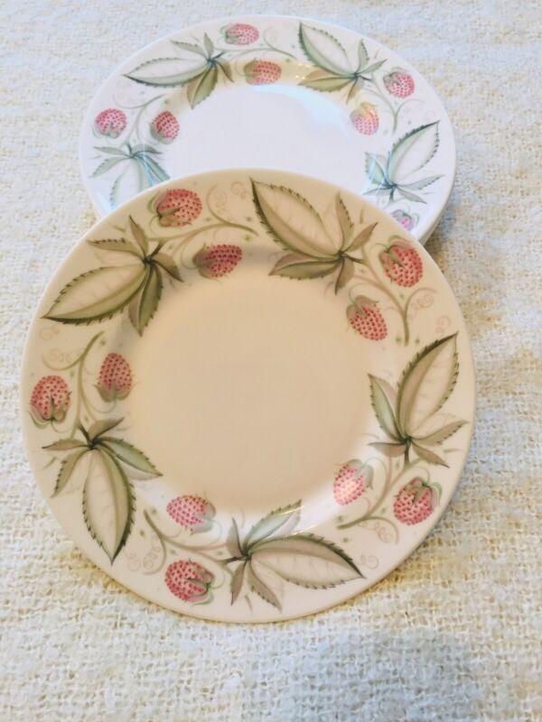 "Lot Of 8x Susie Cooper Wild Strawberry Dessert Plates 6.5"" Across"