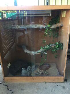 Reptile enclosure.
