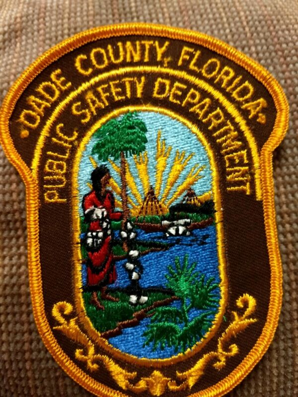 Vintage Dade County Florida Police Public Safety Patch - New