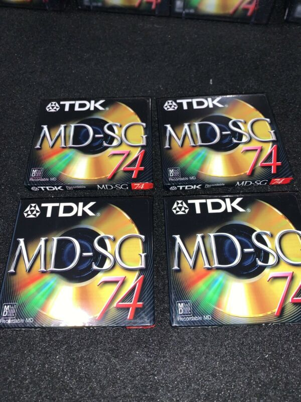 New TDK MD-SG 74 Recordable Mini Disc (74 min.) Lot Of 4 Sealed