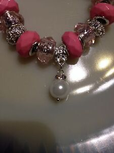NEW* Ladies Pink with Faux Pearls and Crystals London Ontario image 2
