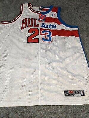 *VERY RARE* Nike Michael Jordan BULLS/Wizard Half NBA JERSEY SIZE 60