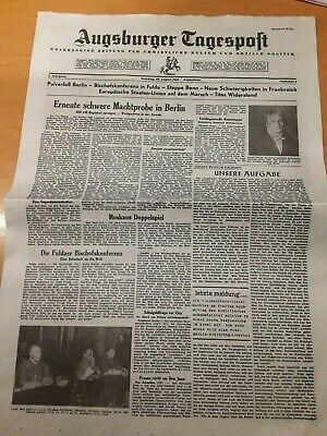 AUGSBURGER TAGESPOST  Geburtstagszeitung  Zeitung vom Tag der Geburt
