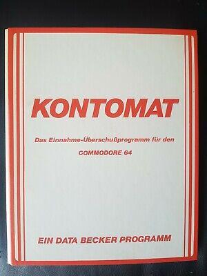 Kontomat (Data Becker) Commodore C64 Diskette (Diskette + Manual)