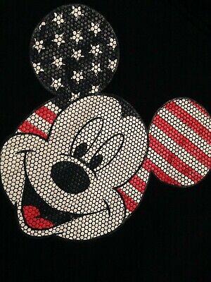 DISNEY HOODIE WOMENS MICKEY MOUSE USA FLAG LOGO TOP Cheap Cheapest