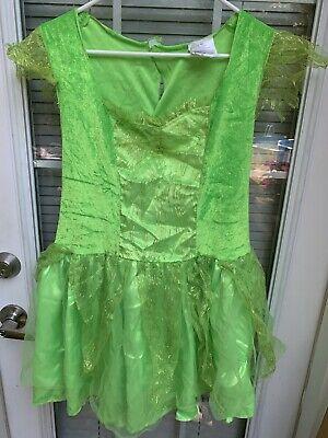 Princess TINKERBELL Dress Up Line Halloween Dress Girls Large 10 12 ❤️tb11j4