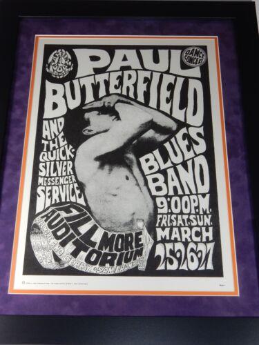Filmore Auditorium 1967 Framed Family Dog Paul Butterfield Concert Poster
