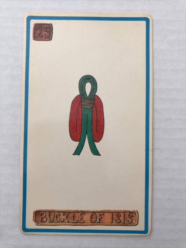 Cartouche Buckle Of Isis Card 25 Single Card Only No Box