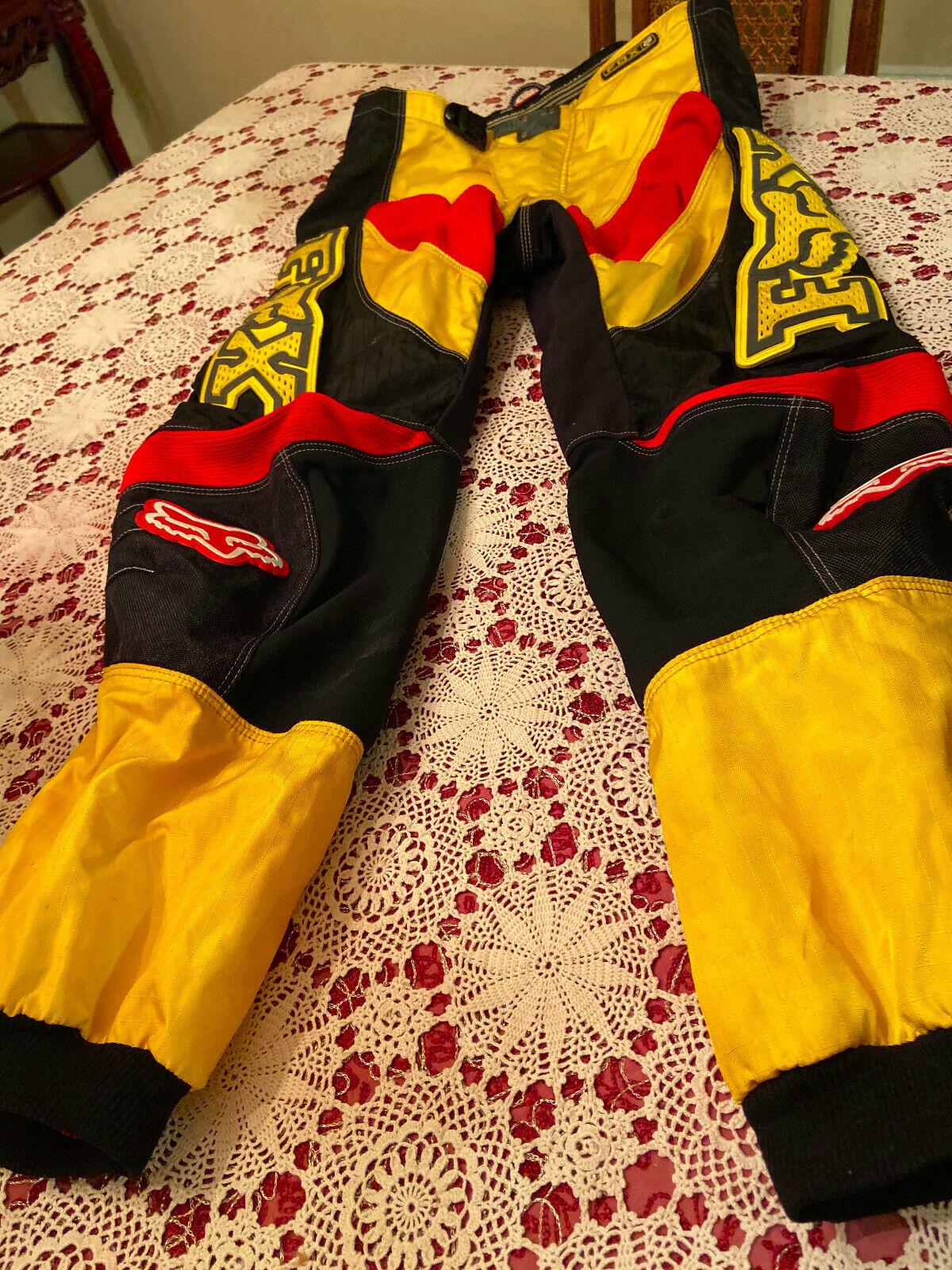 Fox 360 Race Pants Waterproof Motocross Motorcycle BMX Dirt Bike Racing Size 32