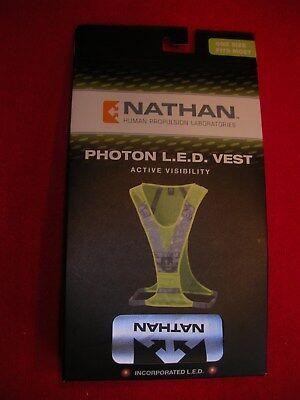 NATHAN 2036NNY PHOTON FRONT LED LIGHT REFLECTIVE VEST ACTIVE VISIBILTY
