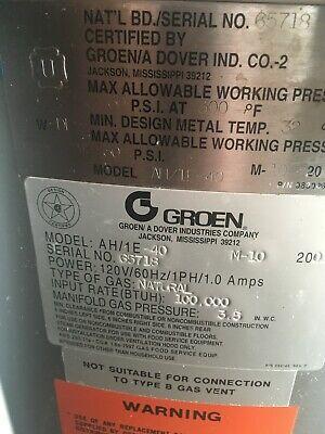 Groen Gas Steam Kettle Model Ah1e-40