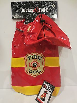 Tucker & Ace Halloween Costume For Dogs Red FIRE DOG NWT