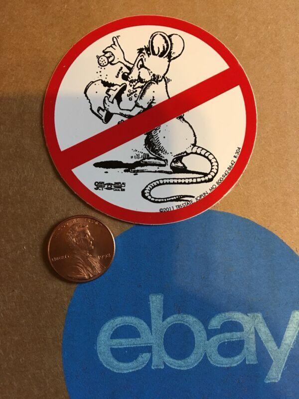 No Rats Organized Labor Union Hard Hat Sticker Decal Funny