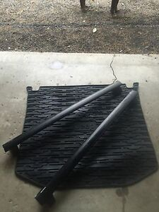Roof rack and rubber mat