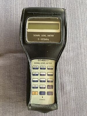 Holland St-4000 5870 Mhz Catv Signal Level Meter With Cords Works