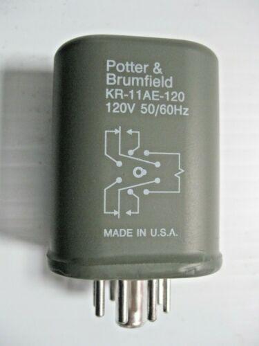 Potter & Brumfield 120VAC Relay  KR-11AE-120  2P2T  F/ Class 1 Div 2 Haz Loc