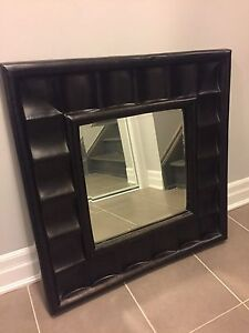 Chocolate brown accent mirror