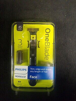 Philips Norelco OneBlade Hybrid Wet/Dry Electric Trimmer/Shaver w/3 Combs Sealed (Norelco Cordless Comb)
