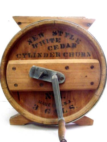 New Style White Cedar 3 Gal. Cylinder Churn