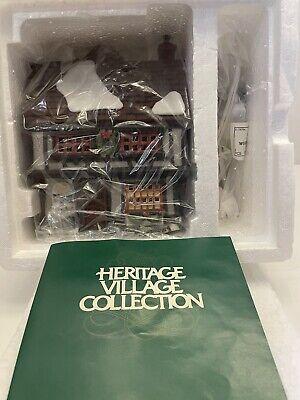 """VINTAGE 1990 Dept 56""""Tutbury Printer"""" Dickens Heritage Village Collection 5568-9"""