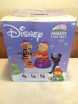 Rare Gemmy Airblown Disney Christmas Inflatable Pooh And Tigger Yard Decor