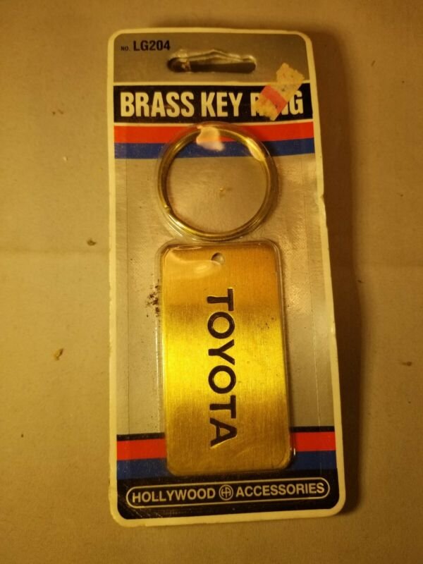 Vintage Toyota Key Chain Fob Ring Solid Brass New in Package 2.5 x 1.5