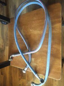 Washing machine hose hookups