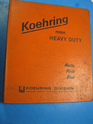 Koehring 220-1a Truck Crane Parts Book Catalog