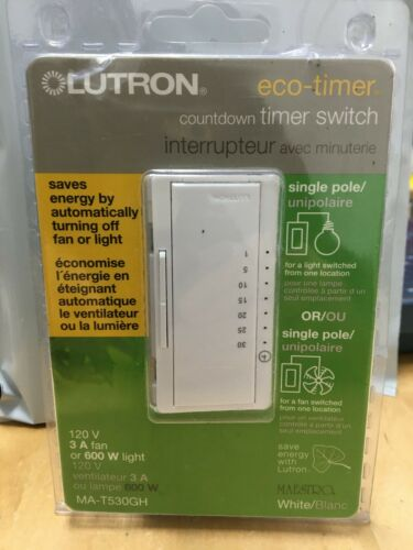Lutron Maestro ECO -Timer Countdown Timer Switch MA-T530GH