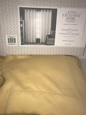 "(Exclusive Home Solid Cabana Curtain Panel Pair Grommet 52""x84"" Taupe 2 Panels)"