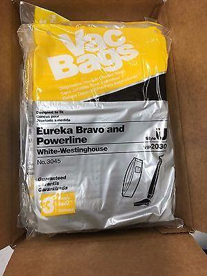Box Of 27 New Eureka Bravo Powerline Vacuum Bags Style U 3045 Vip2030