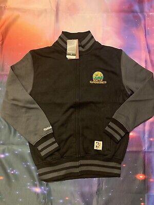 61f55264d MITCHELL   NESS MEN S Seattle SuperSonics Fleece jacket size Medium