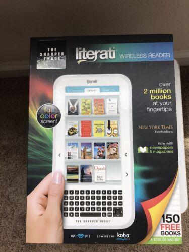 """THE SHARPER IMAGE """"LITERATI """" Wireless E-Reader w/Full Color"""