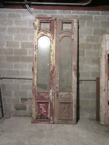 ~ ANTIQUE DOUBLE ENTRANCE FRENCH DOORS ~ 48 x 115 ~ NEED RESTORED ~ SALVAGE