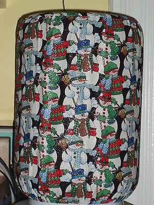 SNOWMAN SCARF MITTENS HAT 5 GALLON WATER COOLER BOTTLE COVER KITCHEN - 5 Gallon Hat