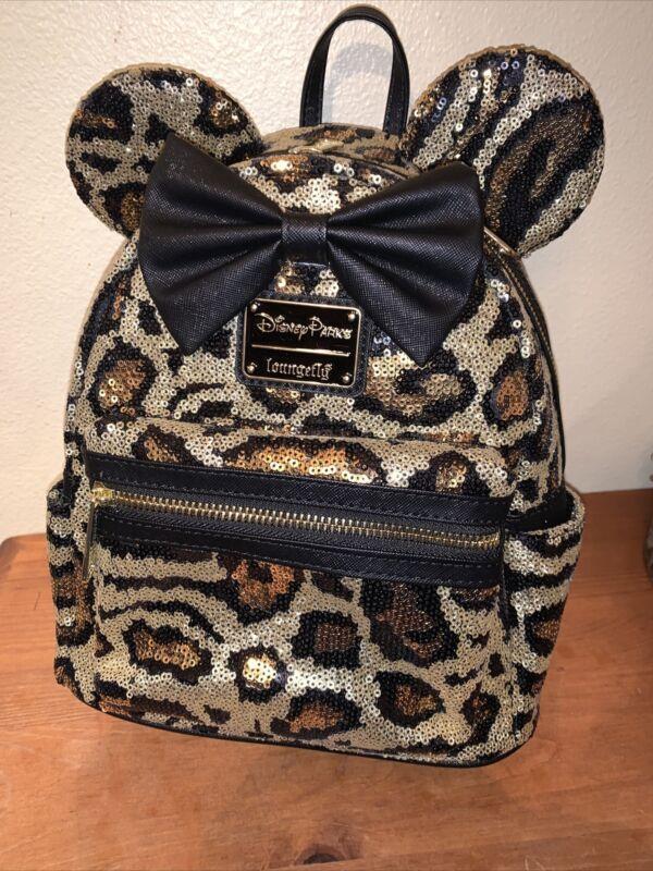 Loungefly Disney Parks Animal Kingdom Cheetah Leopard Sequin Mini Backpack NWT