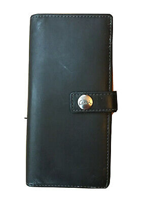 "Coach Black Leather Wallet Bifold Snap Closure 6"" X 3"""