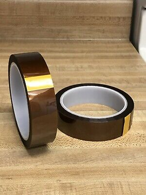 Lot 2 Pieces 25 Mm X 33 M Gold Kapton-tape Polyimide High Temp 1 X 36ydsus