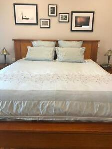 King size bed and side tables