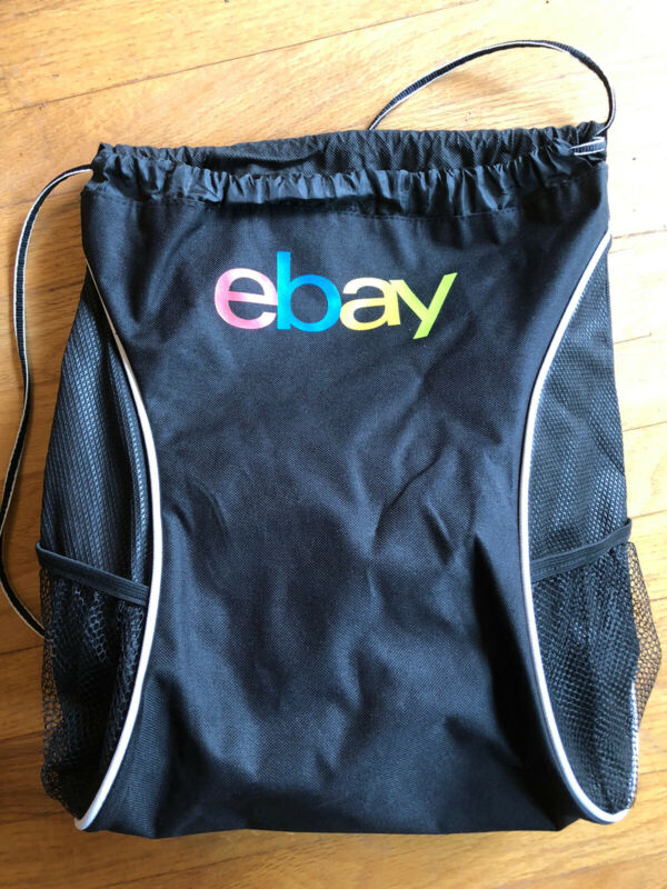 Ebay Drawstring Backpack Black With Logo Leed's
